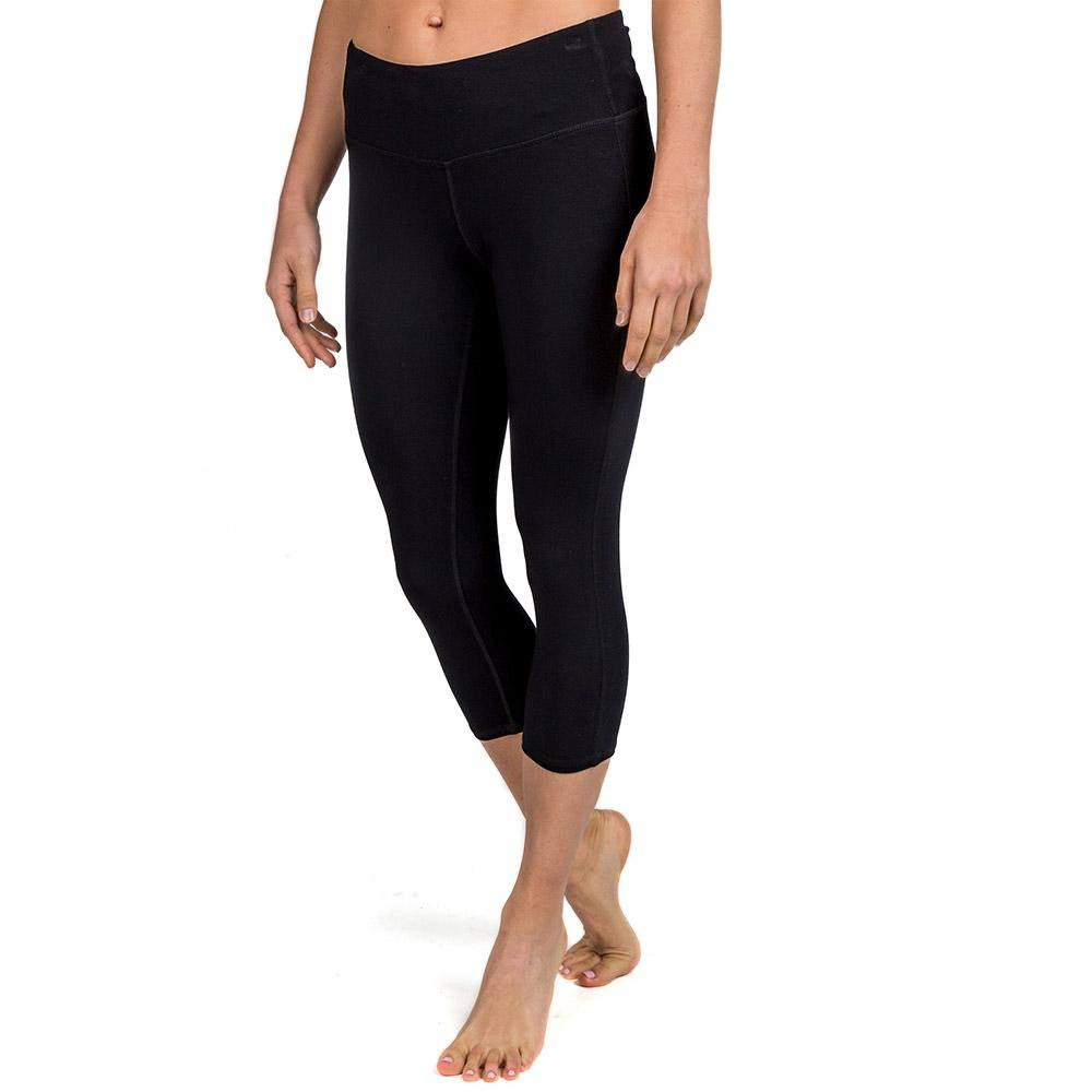 Free Fly Women's Bamboo Cropped Tights Black / Large