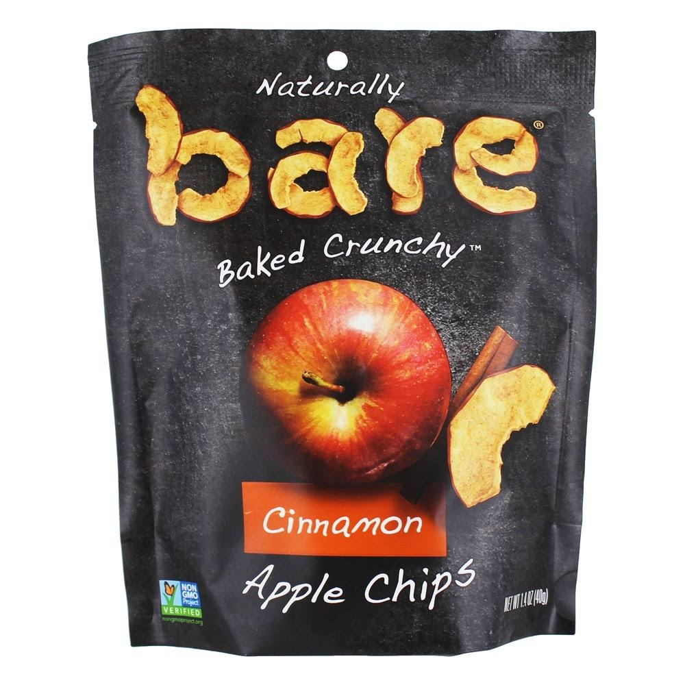 Bare Apple Chips, Cinnamon, Naturally Baked Crunchy - 1.4 oz