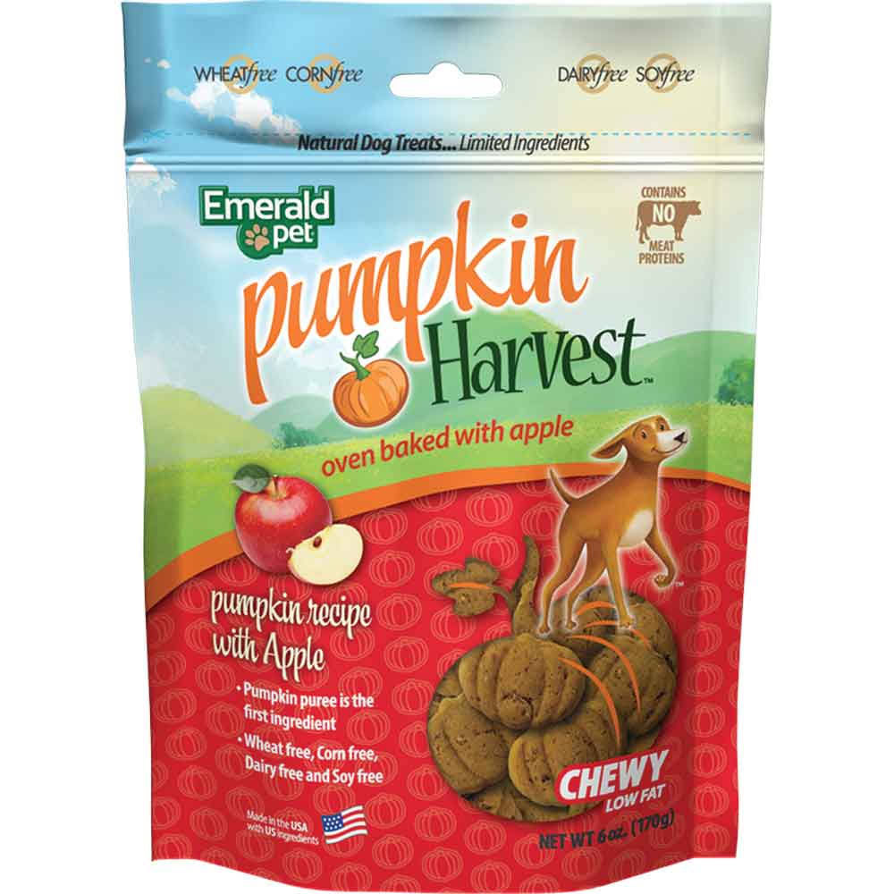 Emerald Pet 6 Ounce Pumpkin/Apple Harvest Chewy Dog Treats