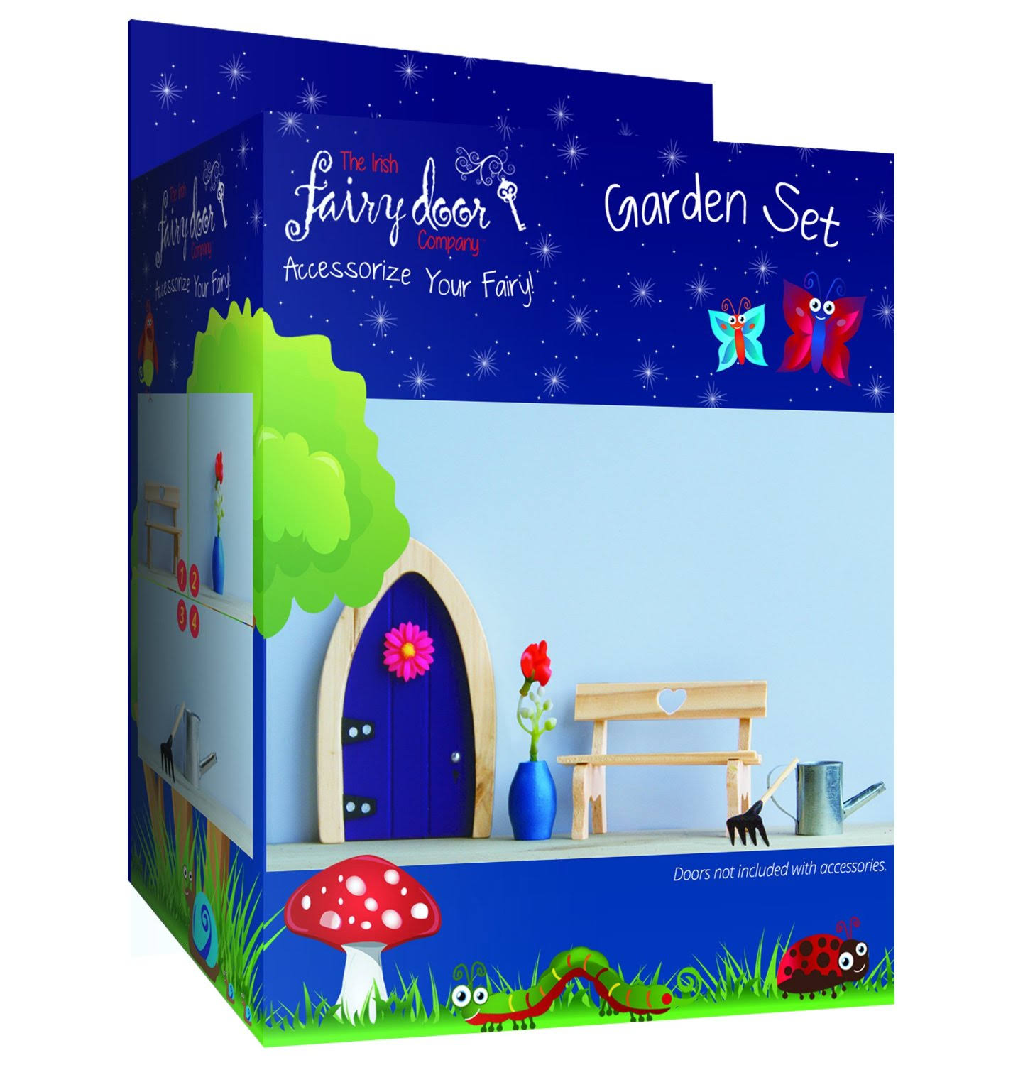 The Irish Fairy Door Company FD554153 Garden Accessory Set