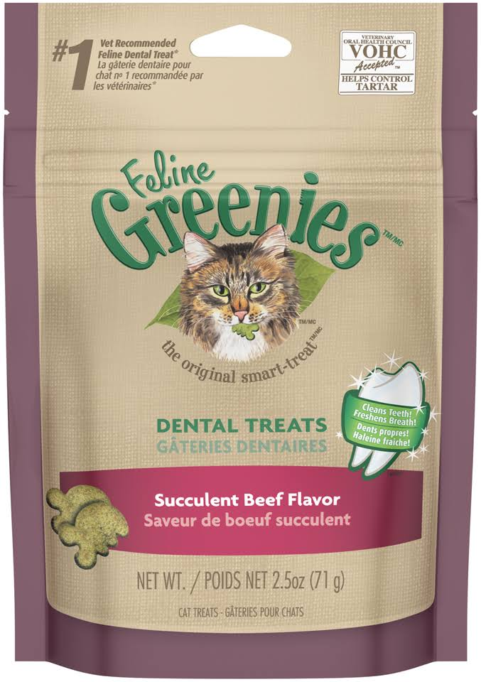 Greenies Feline Succulent Beef - 2.5 oz bag