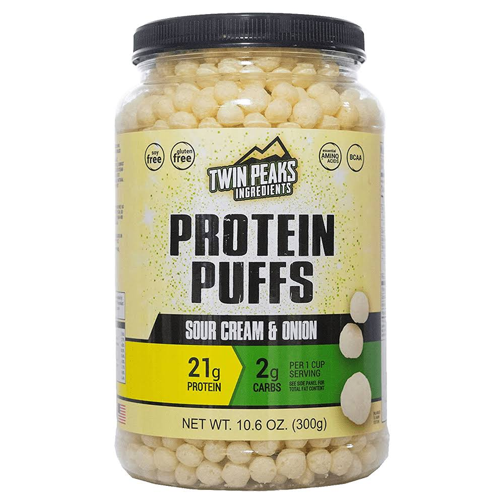 Twin Peaks Ingredients Protein Puffs Sour Cream & Onion