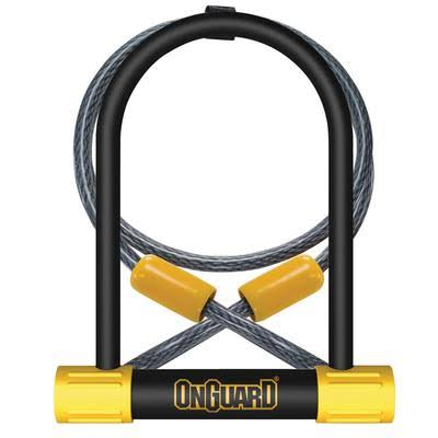 OnGuard Bulldog DT U-Lock with 4-Inch Cinch Loop Cable