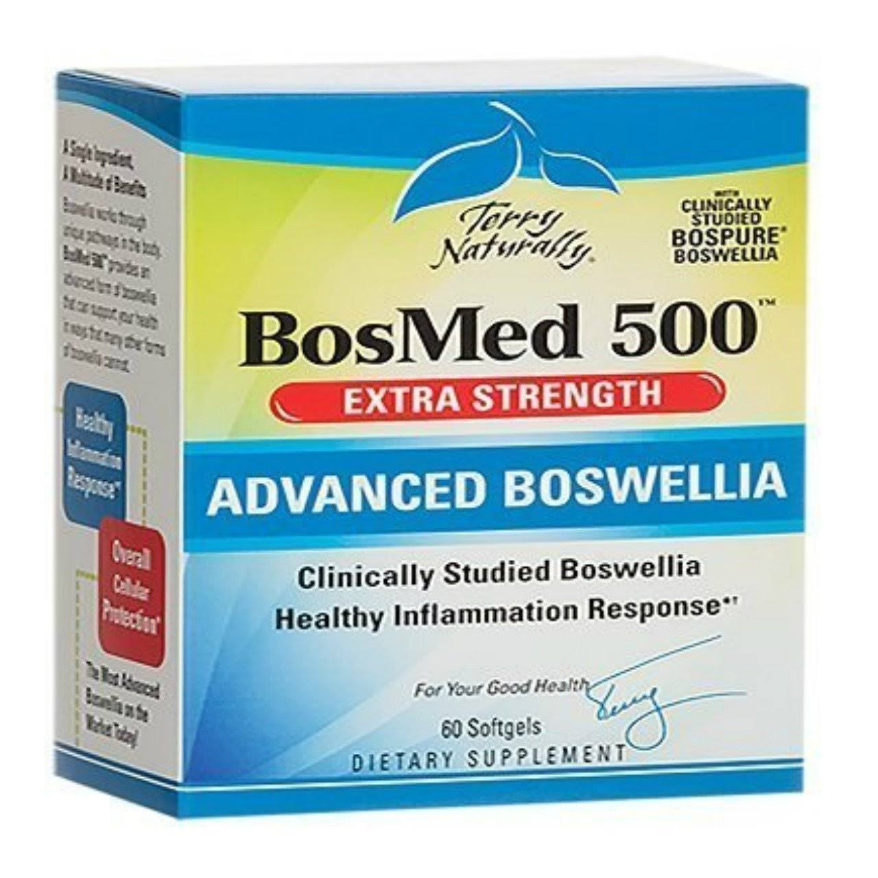 Bosmed 500 Advanced Boswellia Supplement - Extra Strength, 60 Softgels