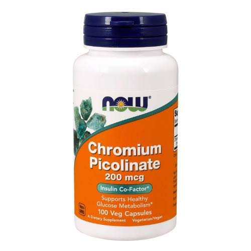 Now Chromium Picolinate - 100 Capsules, 200 Mcg