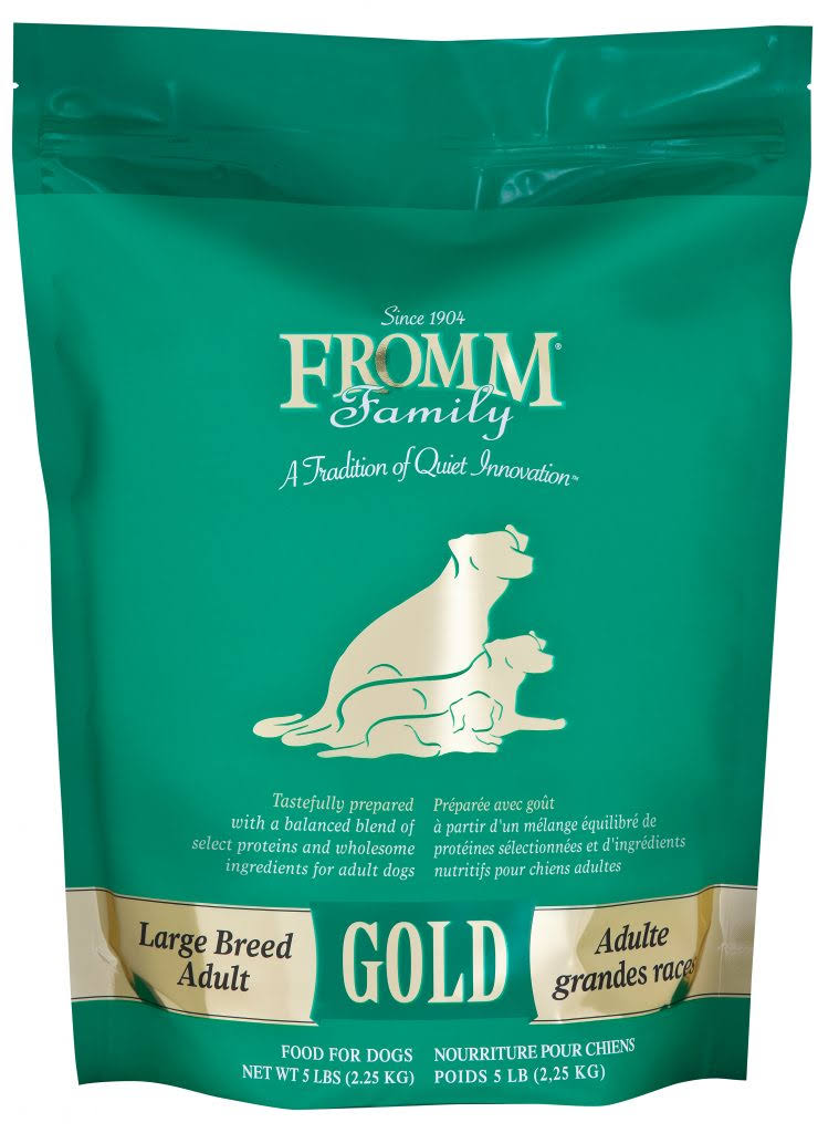 Fromm Gold Large Breed Adult Dog Dry Food - Duck, Chicken, Lamb, Eggs & Cheese, 5lb