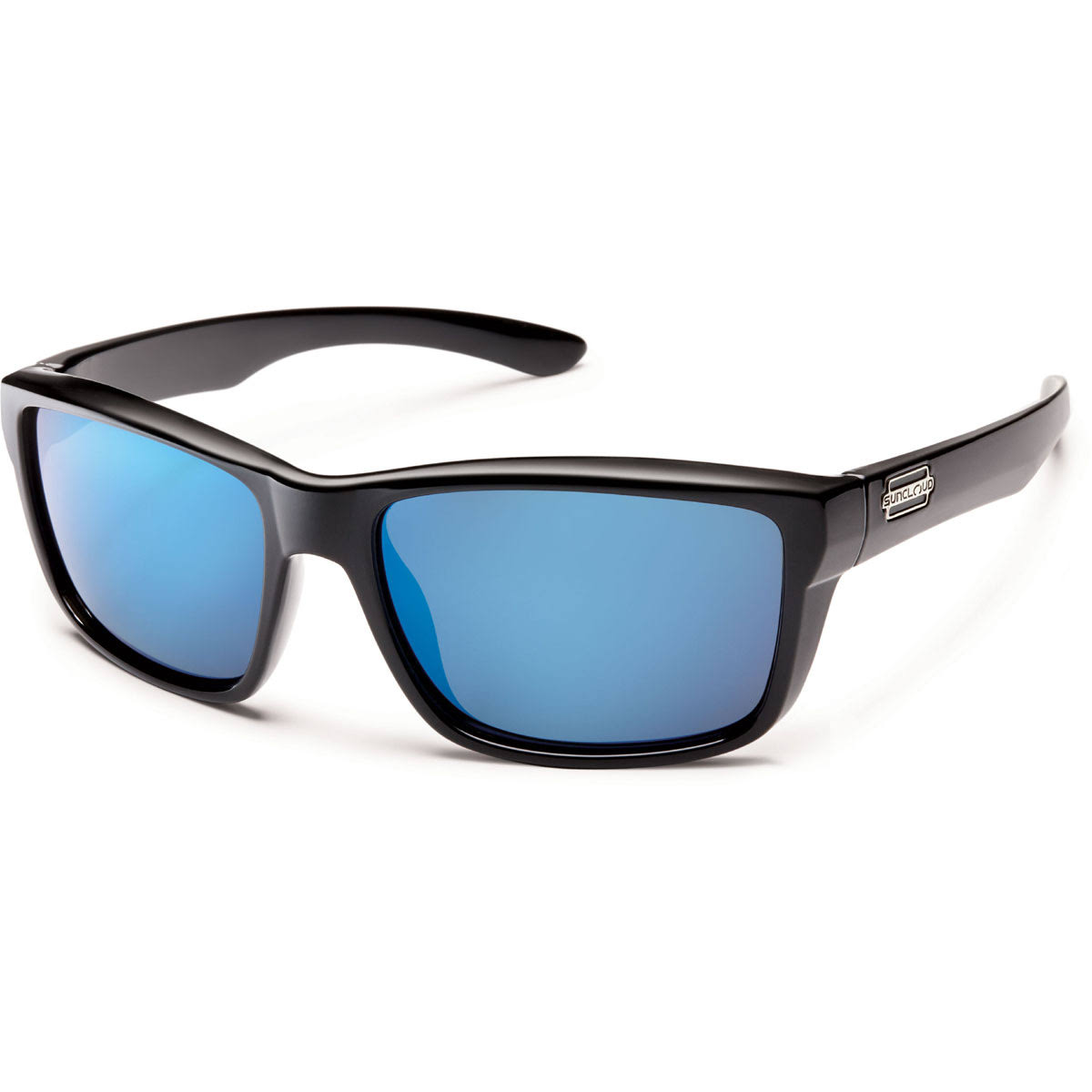 Suncloud Mayor Polarized Sunglass - Polycarbonate Blue Lens, Black Frame