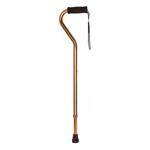 McKesson - Offset Aluminum Cane - 30 to 39 inch Height - Bronze
