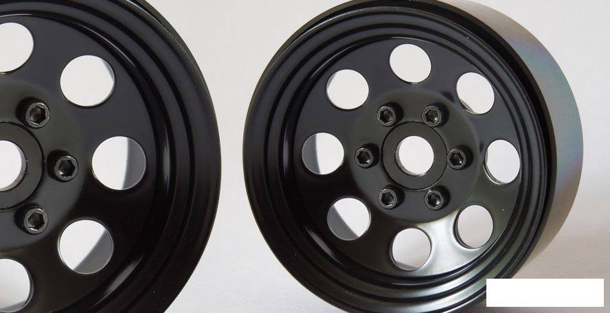 "SSD RC 8 Hole 1.9"" Steel Beadlock Wheels (Black) - SSD00268"