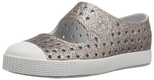 Native Kids' Juniper Bling Shoes – Metal Bling / Shell White
