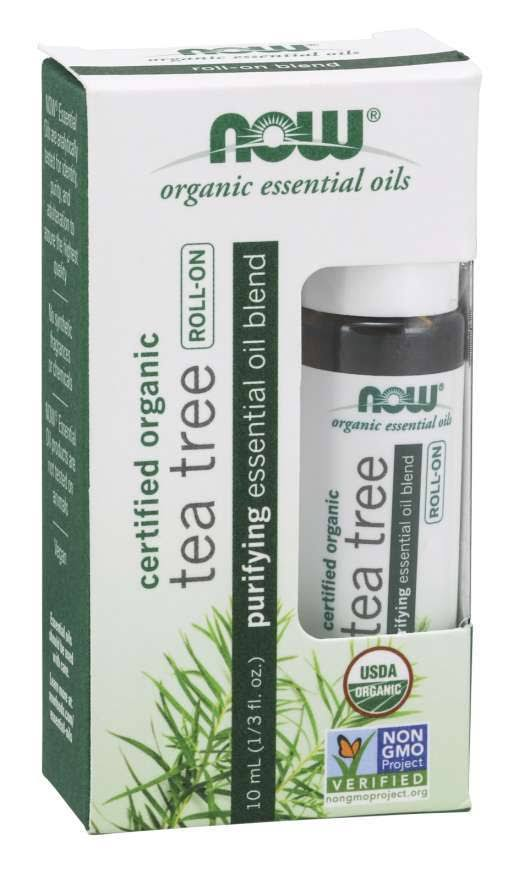 Now Foods Organic Tea Tree Essential Oil - 10 ml Roll-On