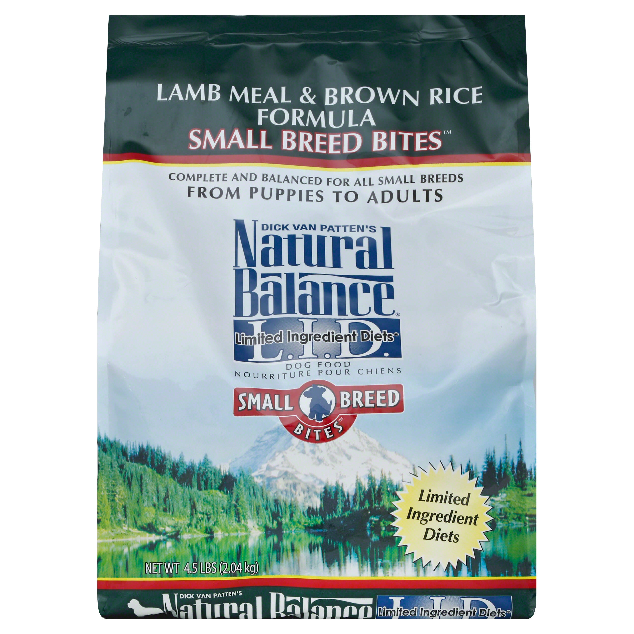 Natural Dry Balance Small Breed Bites L.I.D. Limited Ingredient Diets Lamb Meal