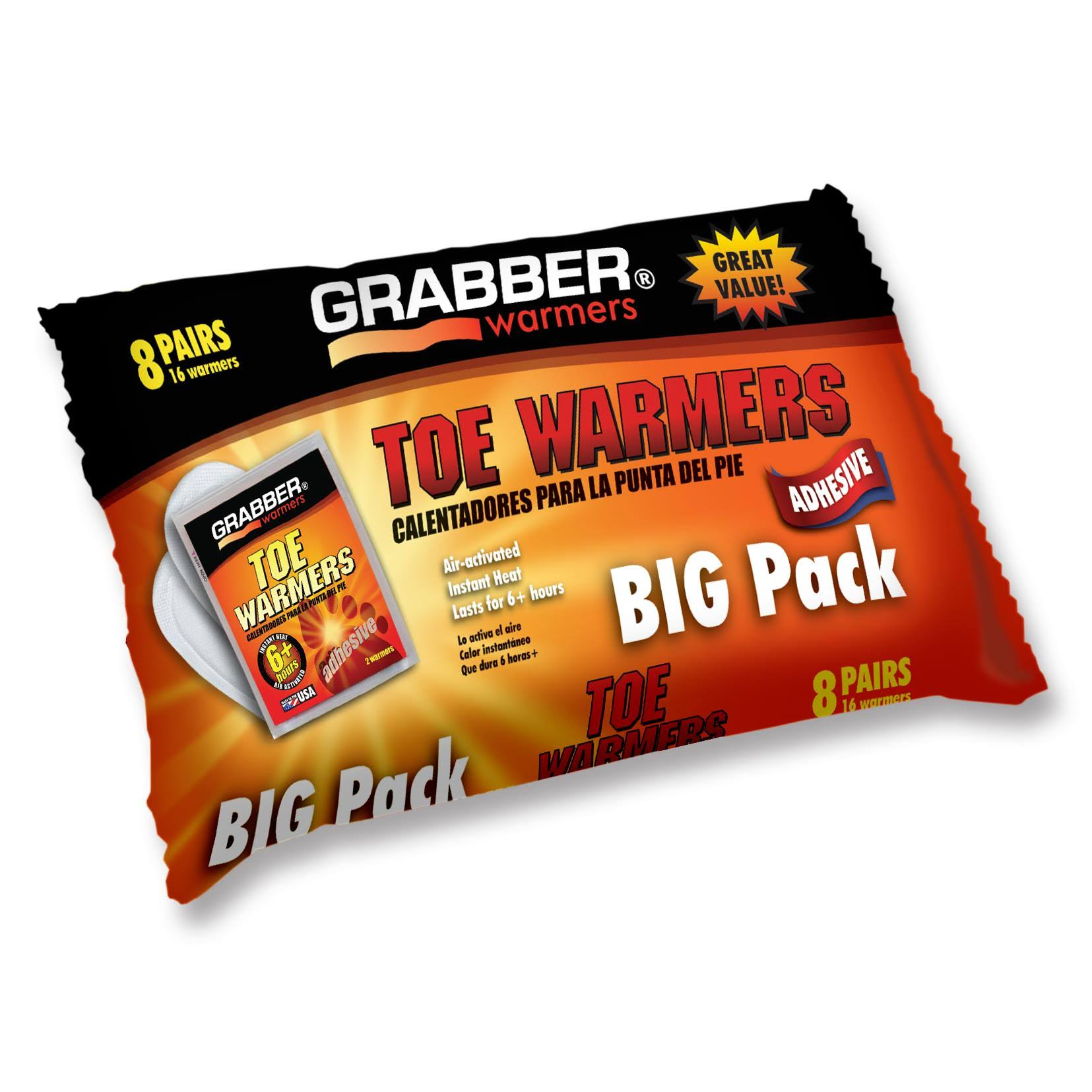 Grabber Warmers Toe Warmer - Big Pack, 8 Pairs