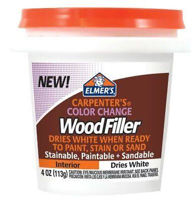 Elmer's Color Change Wood Filler - 4oz, White