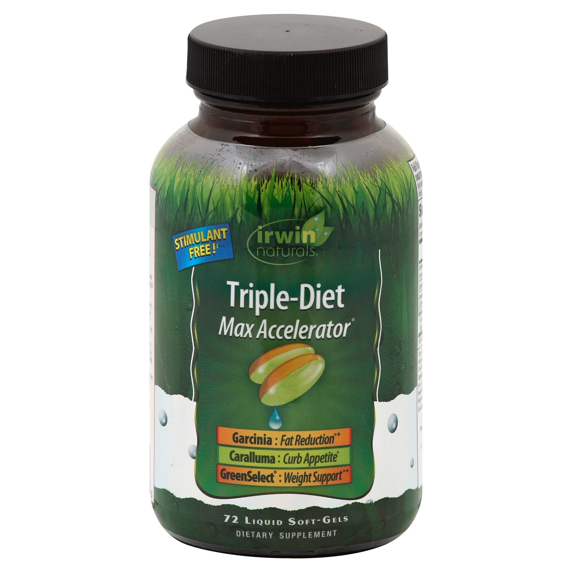 Irwin Naturals Triple-Diet Max Accelerator - 72 Liquid Softgels