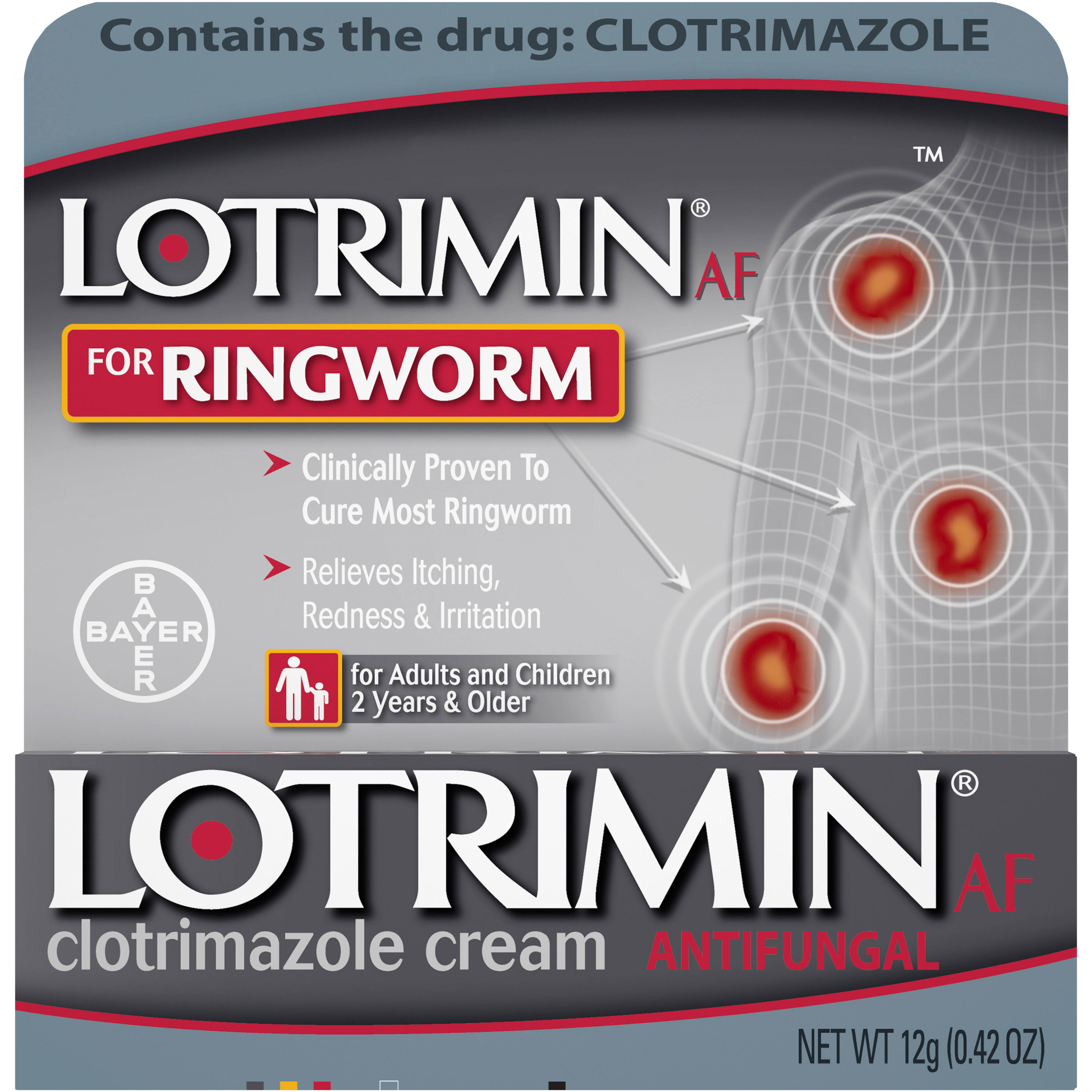 Lotrimin Antifungal Ringworm Cream - 0.42oz