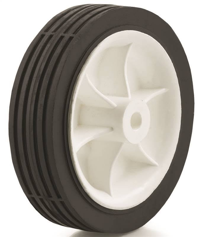 "DH Casters Light Duty Hub Wheel - 5"" x 1"", 45lb, Rubber"