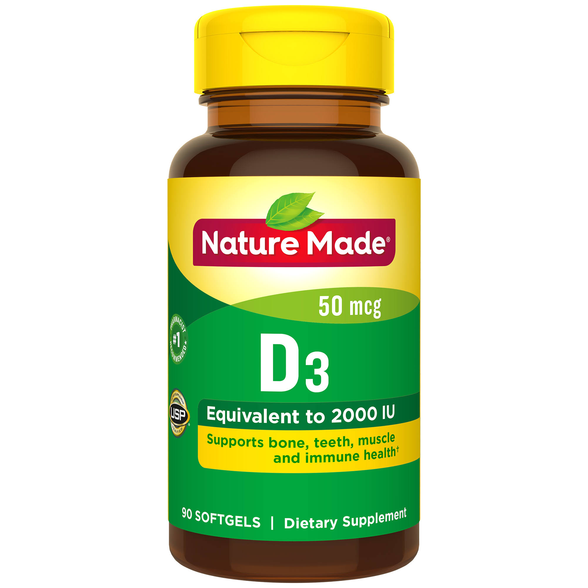 Nature Made D3 2000 IU Softgels - 90ct
