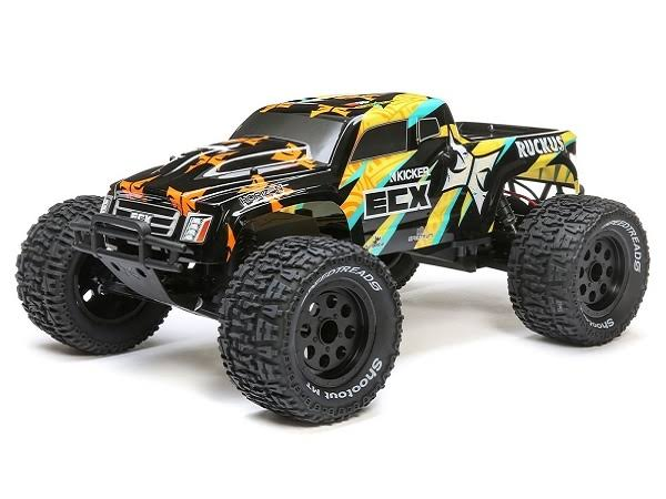 ECX - 1/10 2WD Ruckus MT: Black/Yellow RTR - 03431T1