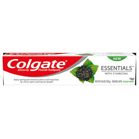 Colgate Essentials with Charcoal Anticavity Fluoride Toothpaste - 6oz