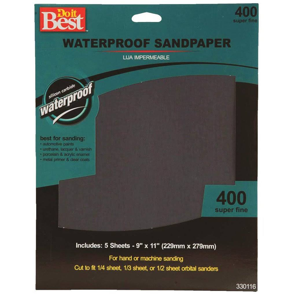 Do it Best Waterproof Sandpaper - 5 Sheets