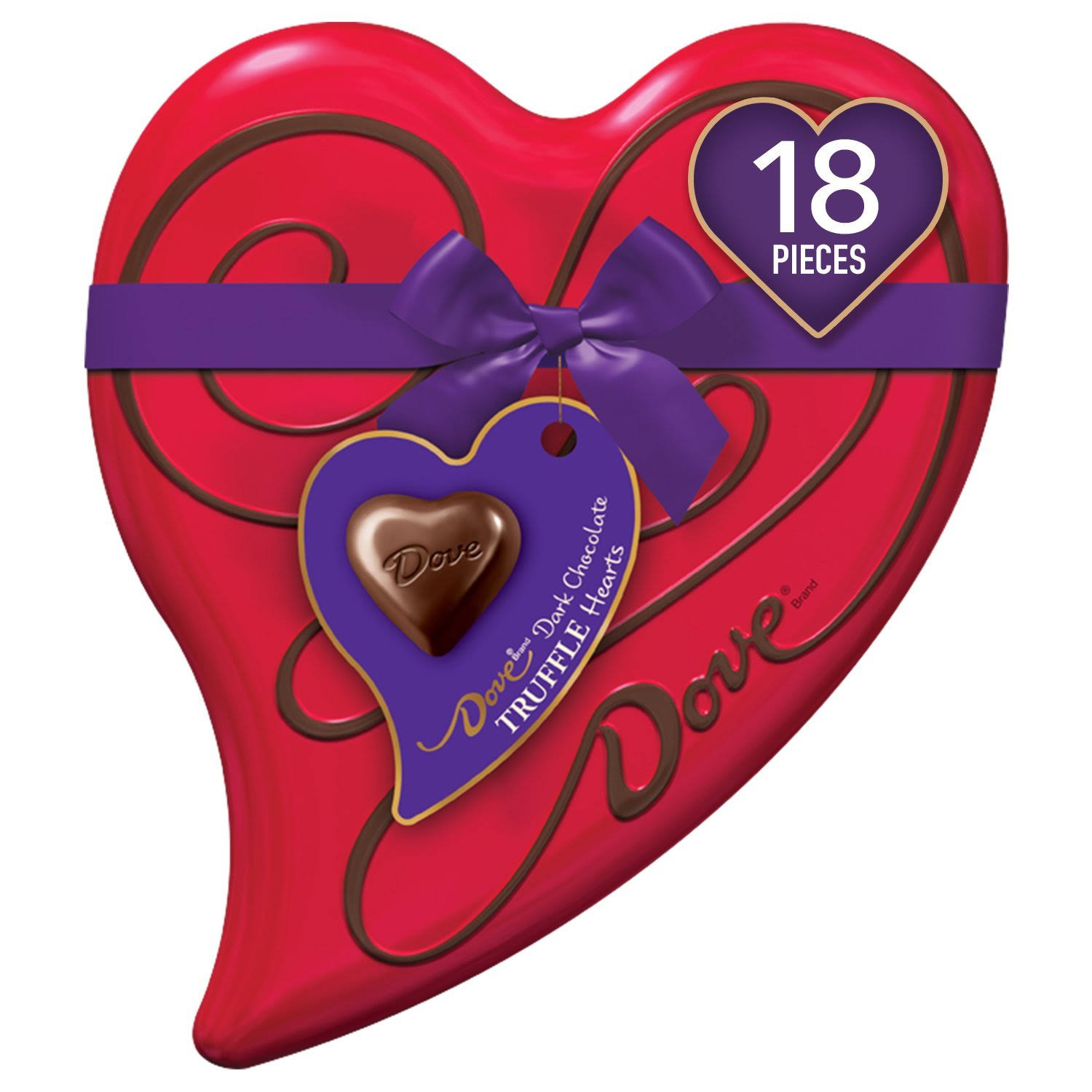 Dove Truffle Hearts, Dark Chocolate - 6.50 oz