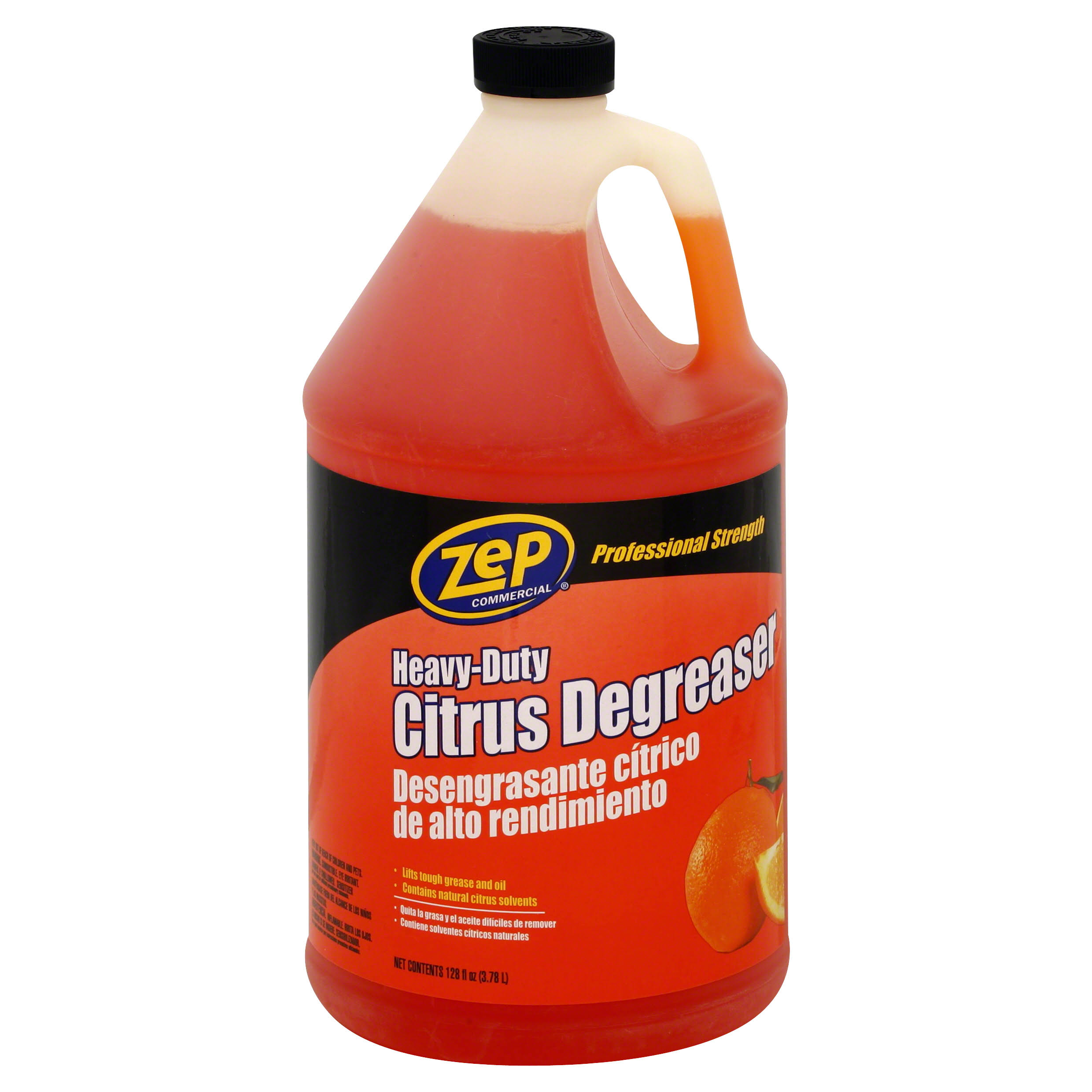 Zep Commercial Heavy Duty Citrus Degreaser - Citrus Scent, 128oz