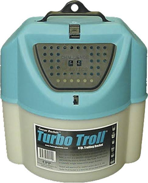 Challenge 50114 Turbo Troll Bait Bucket - White, 8 Qt