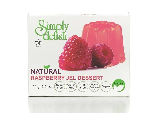 Simply Delish Natural Jel Dessert - Raspberry, 1.6oz
