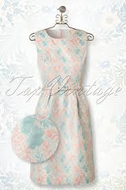 50s lily shiny jacquard floral dress in pastel