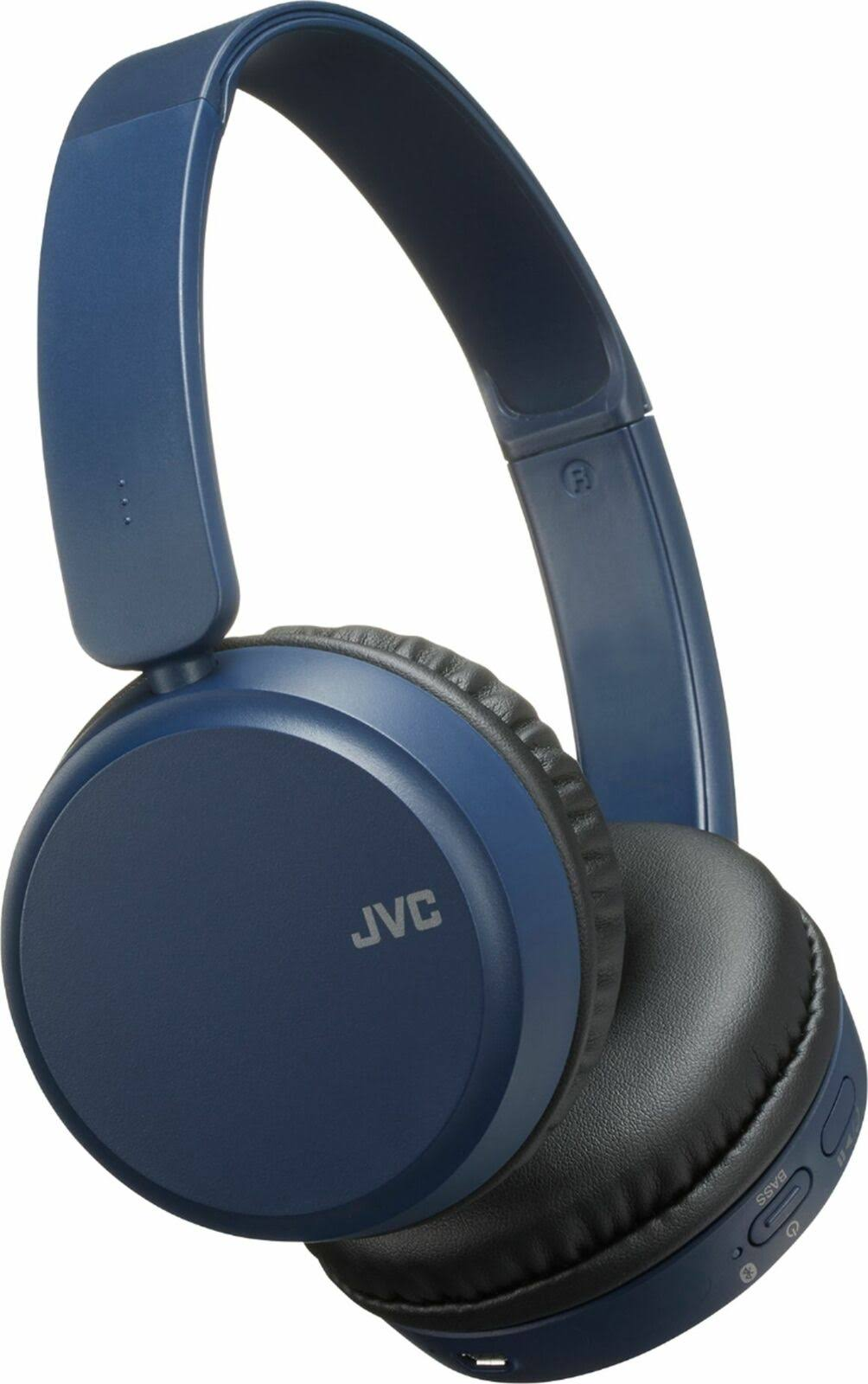 JVC - Ha S35BT Wireless On-Ear Headphones - Blue