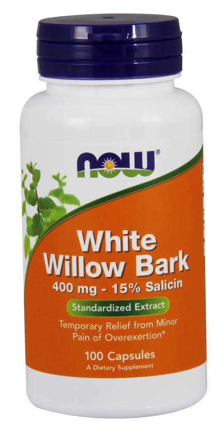 Now Foods White Willow Bark 400mg - 100 Capsules