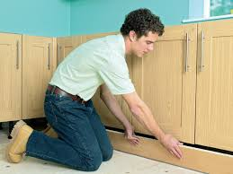 Installing Plug Mold Under Cabinets by How To Install New Kitchen Cabinets How Tos Diy