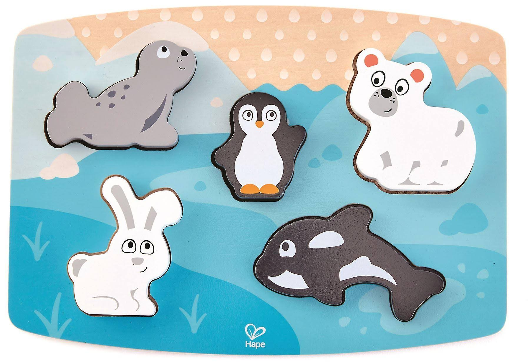 Hape Tactile Puzzle Toy - Polar Animal