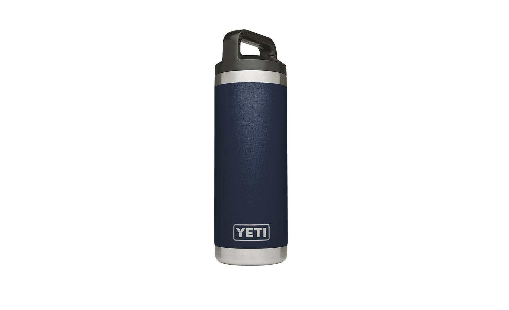 Yeti Navy Rambler Water Bottle - Navy Blue, 18oz