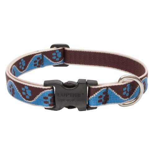 Lupine Muddy Paws Patterned Adjustable Dog Collar