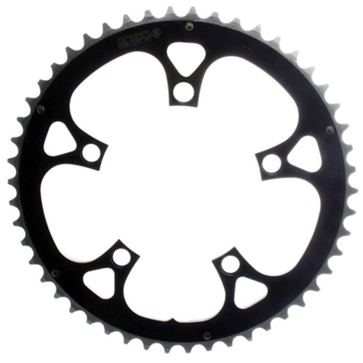 Origin8 Alloy Ramped Chainrings - Black/Silver, 110mm, 50T