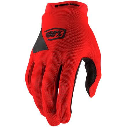 100 Percent Cycling Full Finger Gloves - Red, Large
