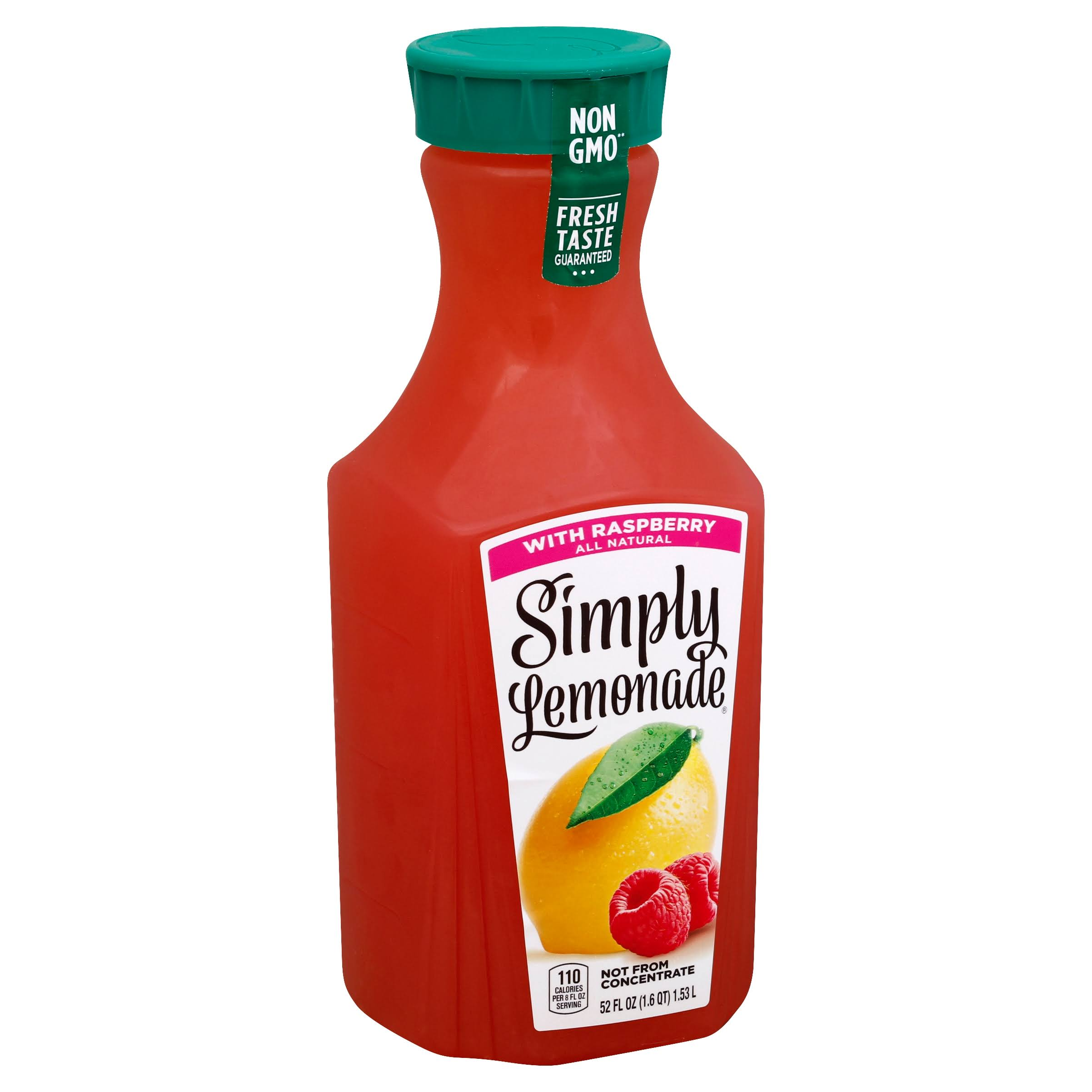 Simply Lemonade Lemonade, with Raspberry - 52 fl oz