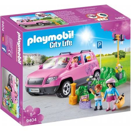 Playmobil 9404 City Life Family Car with Parking Space Set