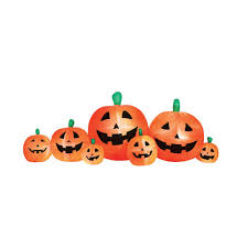 White Oak Pumpkin Patch by Airflowz 8 Ft Inflatable Pumpkin Patch 06474 The Home Depot