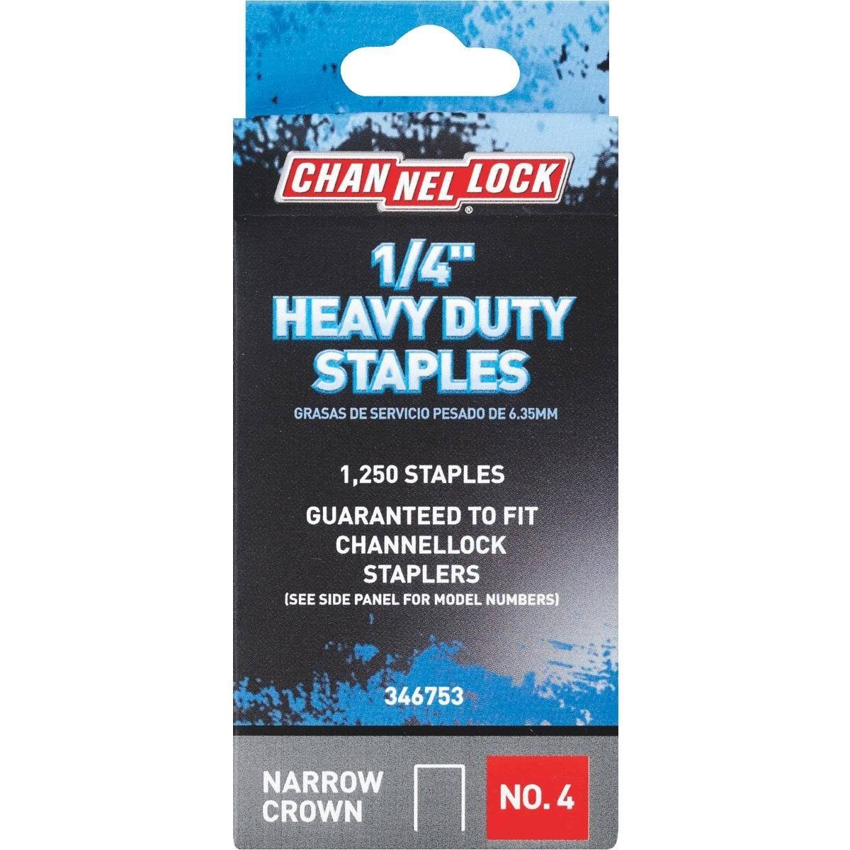 Channellock No. 4 Heavy-Duty Narrow Crown Staple (Pack of 5) 346753