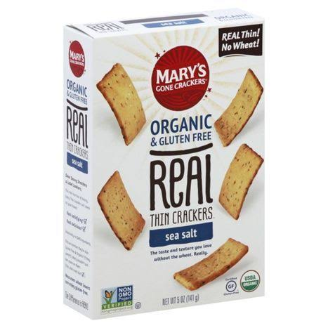 Marys Gone Crackers Crackers, Organic & Gluten Free, Sea Salt, Thin - 5 oz