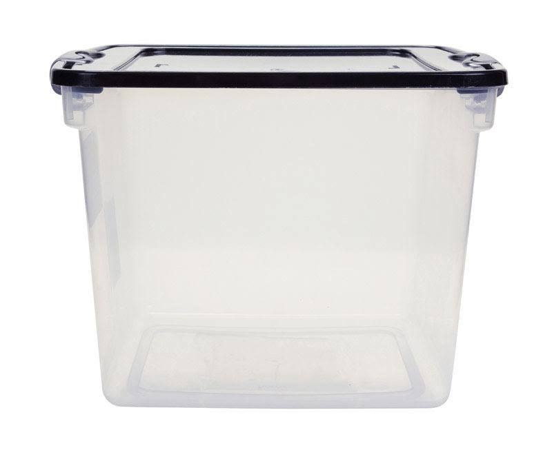 Homz Latching Storage Tote - Clear, 31qt
