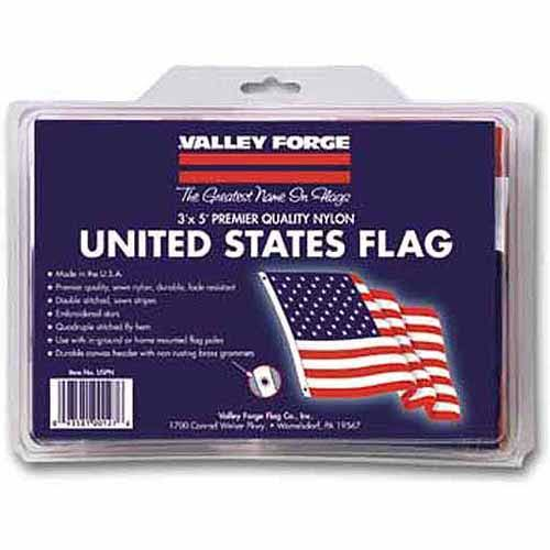 Valley Forge US American Flag - Standard Nylon, 3' x 5'