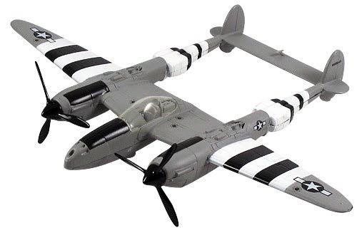 Smithsonian Museum Replica Series P-38 Lightning Model Kit - 1/60 Scale