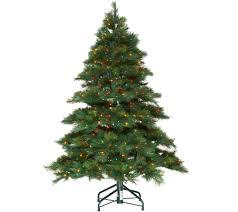 Bethlehem Lights Christmas Trees Qvc by Bethlehem Lights 5 U0027 Prelit Long Needle Pine U2014 Qvc Com