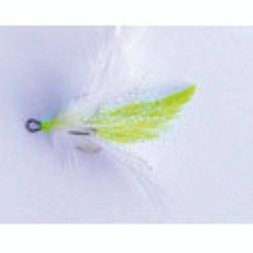 Mustad Dressed Treble Hooks 2ct White-Chart Size 6