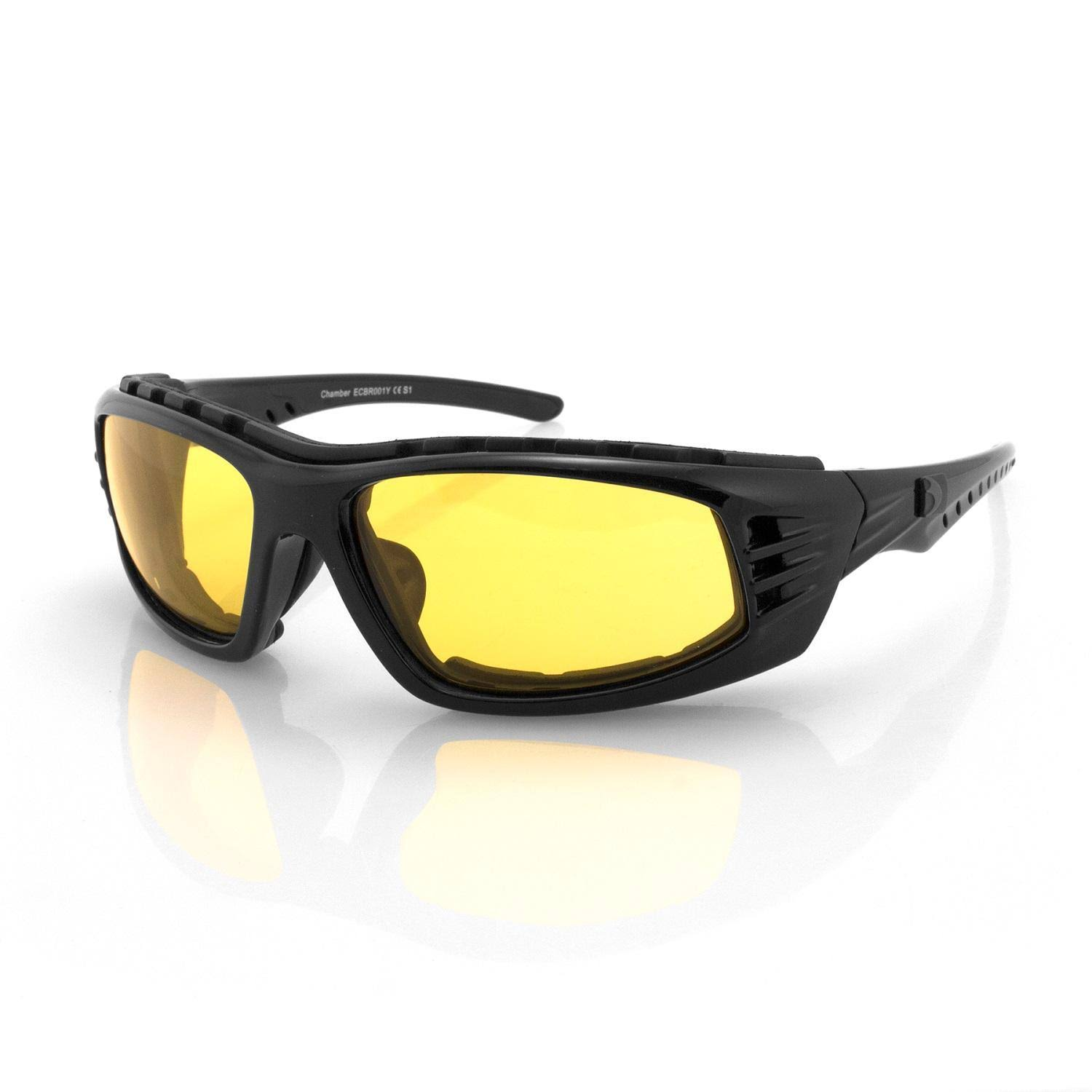 Bobster Chamber Sunglasses - Black Frame & Clear Reflective Lens