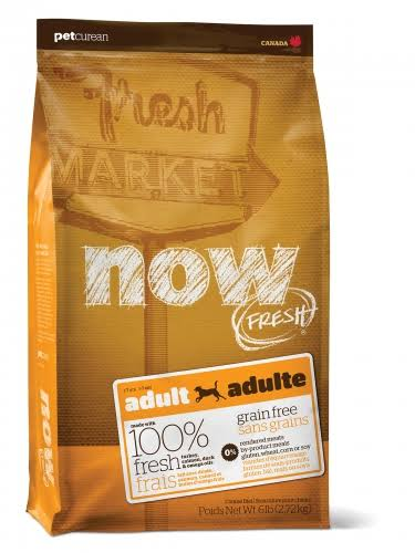 Petcurean Now! Fresh Grain Free Adult Dog Dry Food - 2.72kg